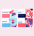 set of web page design templates for beauty vector image vector image