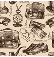 Sketch gentlemen accessories vector image vector image