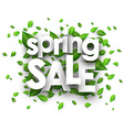 Spring sale paper background vector image vector image
