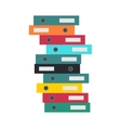 Stack of Folders Isolated Business Document Cases vector image vector image
