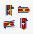 swaziland flag stickers and labels vector image vector image
