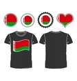 t-shirt with the flag of Belarus vector image