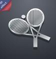 tennis icon symbol 3D style Trendy modern design vector image