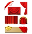 Theater set vector image vector image