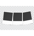 three Retro blank photography vector image vector image