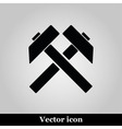 Two crossed hammers flat icon labor symbol vector image vector image