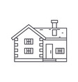 village cottage thin line icon concept village vector image