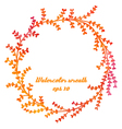 Watercolor hand drawn wreath with branches vector image vector image