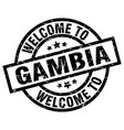 welcome to gambia black stamp vector image vector image