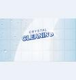 wet clean tiles vector image