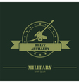 Military logo badges Cannon Graphic template vector image