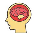 brain head brainstorm mind idea generation vector image