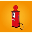 retro gas station vector image