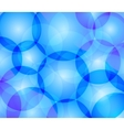 Blue background with transparent circles vector image