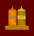 flat shading style icon pixel ketchup and mustard vector image