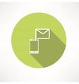 Smartphone e-mail icon vector image