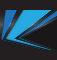 abstract blue arrow speed direction on black vector image