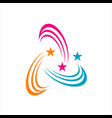 abstract shooting star logo icon decorative vector image vector image