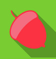 acorn flat icon nut and food graphics a colorful vector image vector image