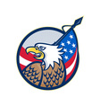 american eagle stars and stripes flag retro vector image vector image