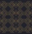 art deco gold black line vintage seamless pattern vector image vector image