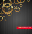 background with golden circles vector image vector image