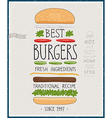 Best Burgers Poster vector image vector image