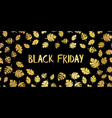 black friday gold foil sale text hand drawn vector image vector image