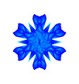 blue flower on a white background vector image