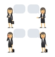 Business woman with speech bubbles vector image