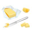 butter margarine breakfast milk butter for vector image