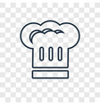 chef hat concept linear icon isolated on vector image