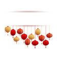 chinese lanterns new year card template vector image vector image