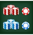 chips casino vector image vector image
