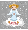 Christmas card with an angel vector image vector image