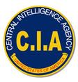 cia logo mockup vector image vector image