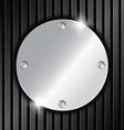 Circle metallic label vector image
