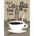 Coffee london vector image vector image