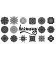 collection of mandalas for vector image