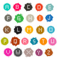Colorful Grunge Splashes Alphabet ABC Set vector image vector image