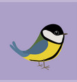 cute black tit vector image vector image