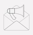 e-mail campaign icon line element vector image