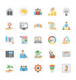 entrepreneurship flat icons pack vector image