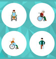 flat icon handicapped set of wheelchair vector image vector image