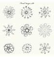 flowers hand painted set vector image vector image
