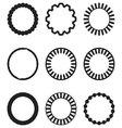 Frame round circle geometric set vector image