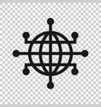 global network icon in transparent style cyber vector image vector image
