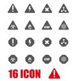 grey danger icon set vector image vector image