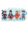 halloween kids costume party vector image vector image