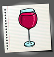 hand drawn doodle sketch wine glass isolated on vector image
